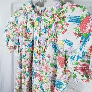 Classic Vintage Handmade Floral Dress